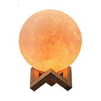 3d Print Moon Lamp - Oplaadbare Touch Desk Usb Switch