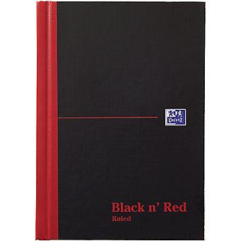 Oxford Black n' Red, A6 Notebook Hardcover, Casebound, Lined, 192 Page