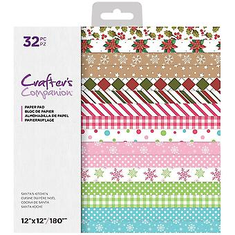 Crafter's Companion Santa's Kitchen 12x12 Inch Paper Pad