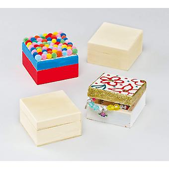 Wooden keepsake boxes (box of 4)