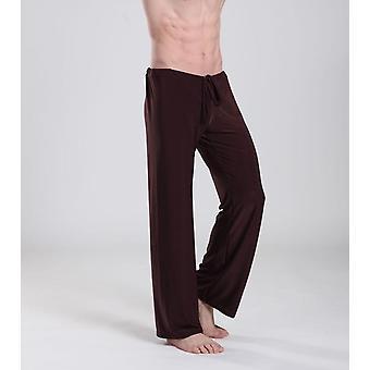 Men's Sleep Bottoms Casual Calças, Soft Comfortable Homewear Pants Pajama