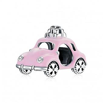 Sterling Sølv Charm Pink Bil - 6932