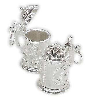 Beer Stein Tankard Opening Sterling Silver Charm .925 X 1 Drinking Charms - 177