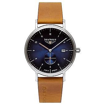 Bauhaus Men's Brown Italian Leather Strap | Blue Dial 2130-3 Watch