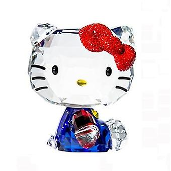 Rafinat Crystal Cartoon Cat Figurine Ornament auto, Paperweight, Multicolor