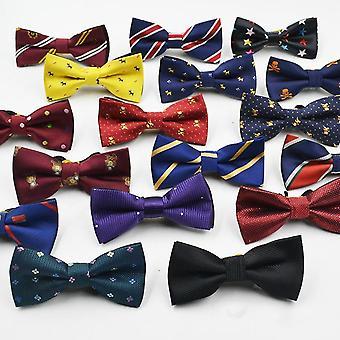ボーイズ紳士調整可能なスーツシャツネックドットボウタイパーティー