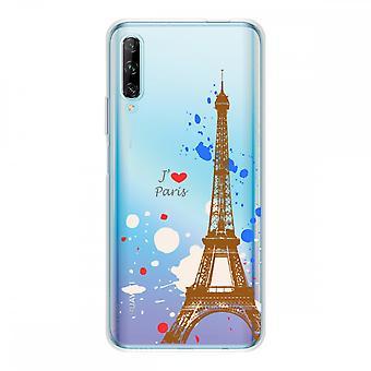 Hülle für Huawei P Smart Pro Silikon Souple 1 mm, Paris Eiffelturm