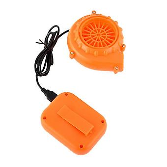 Portable Mini Electric Fan, Air Blower For Doll, Mascot Head Gas Mode, Cartoon