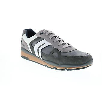 Geox U Sandford  Mens Gray Suede Euro Sneakers Shoes