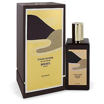 Italian leather eau de parfum spray (unisex) by memo 543844 200 ml