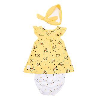 Baby Bulb Baby Dress Chick + Pamper Byxor och Hårband