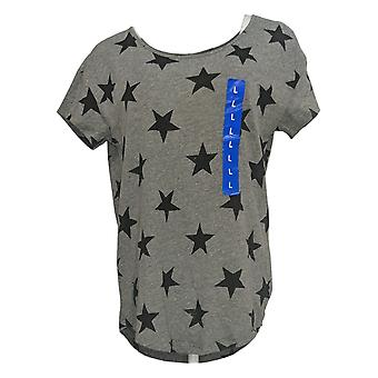 Alternative Women's Top Star Printed Short Sleeve Tee Gray