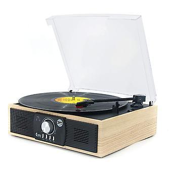 Levysoittimet, vinyylimusiikki levysoittimella 3-vaihteinen bluetooth 5.0 -levysoitin, jossa on sisäänrakennettu spea wof44393