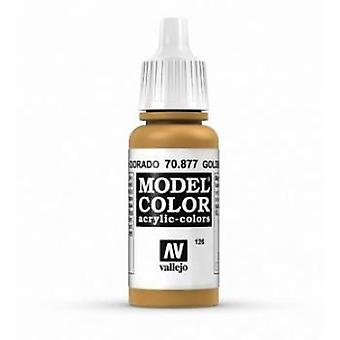 Vallejo Model Color 17ml Acrylic Paint - 877 Gold Brown