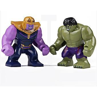 Disney Marvel Avengers figur Hulk Spiderman Diy byggstenar för action