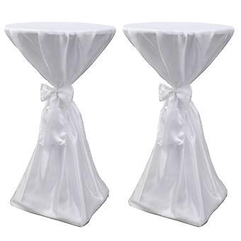 2×テーブルハッセ立ちテーブルハッセ白80センチ