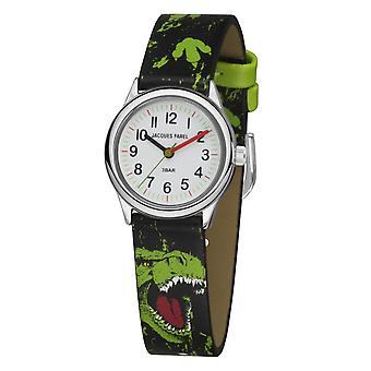 JACQUES FAREL Kids Wristwatch Analog Quartz Boys Faux Leather HCC 921 Dino