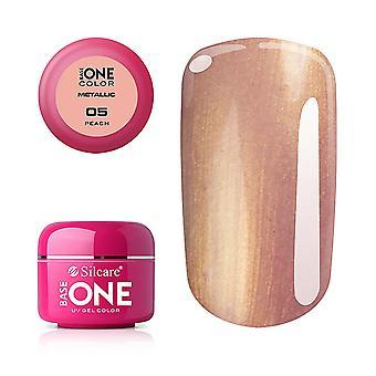 Base One - UV Gel - Metallic - Peach - 05 - 5 gram