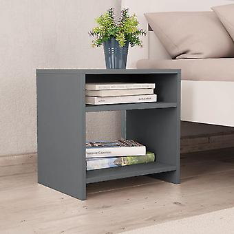 vidaXL Bedside table grey 40 x 30 x 40 cm chipboard