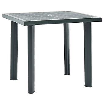 vidaXL Garden Table Green 80 x 75 x 72 cm Plastik