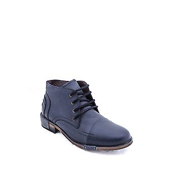 Genuine leather laced black boots | wessi