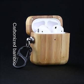 Étui de protection pour airpods 1 2 3 pro palissandre bois de cerisier en noyer
