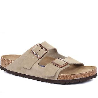 Birkenstock Mens Arizona Suede Leather Sandal