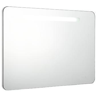 vidaXL LED gabinete espejo de baño 80 x 11 x 55 cm