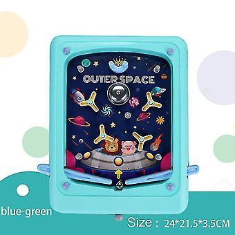 Green creative children's pinball pinball game cartoon handheld game machine maze ejection score machine children's toys x1703