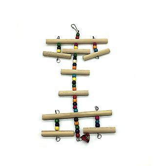 New Parrot Bird Parakeet Climbing Ladder Toy Wooden Swing ES2185