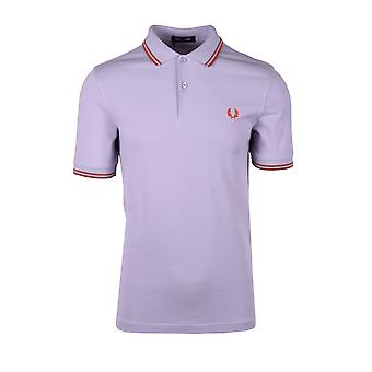 Fred Perry Twin Tipped Polo Shirt Lilac /cinnamon