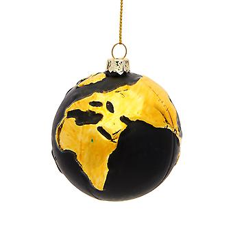 Sass & Belle Gold Planet Earth Bauble