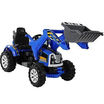 Elektriskt styrd traktor blå - med tiltskopa