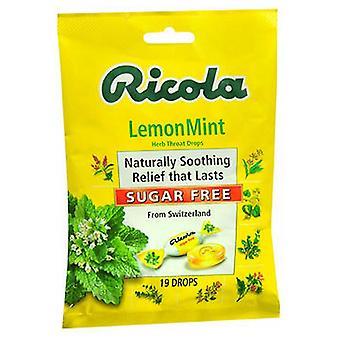 Ricola Ricola Herb Throat Drops Sugar Free, Lemon Mint 19 each