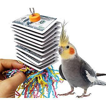 תוכי לנשוך צעצוע משחק כרטיס ציור ציפור צעצוע