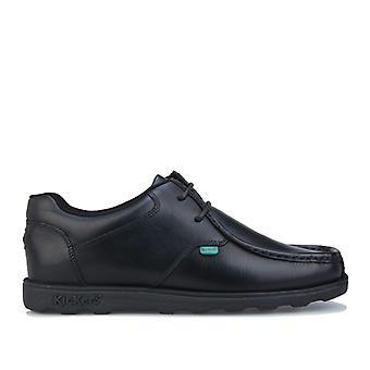 Men's Kickers Fragma Lace Shoe in Black