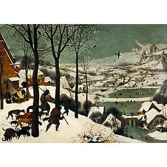 Hunters In The Snow, Pieter Bruegel The Elder Art Reproduction.renaissance Modern Hd Art Print Poster, Canvas Prints Wall Art For Home Decor Pictures