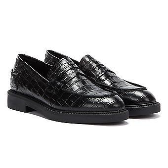 Vagabond Alex W Croc Womens Black Loafers