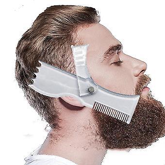 Parran muotoilu työkalu leikkaus malli kampa läpinäkyvä miesten parrat