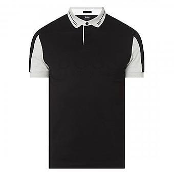 Boss Green Hugo Boss Pavel Embossed Logo Short Sleeve Polo Black 001 50452528