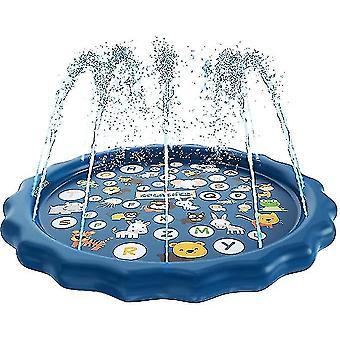 في الهواء الطلق نفخ الأطفال المياه اللعب حصيرة، رسالة المياه رذاذ حصيرة