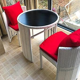 Wicker Chair Three-piece Tea Table Combination Patio Outdoor Small Round Table