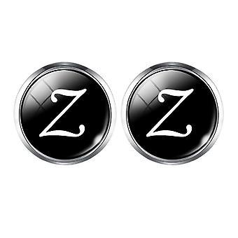 Pulsante cuffia A-z Single Alphabet per camicie maschili