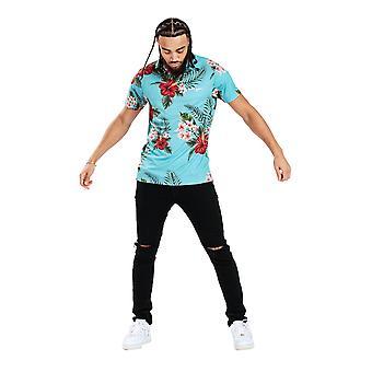 Hype Heren Aquifer Tropen Tropisch T-Shirt