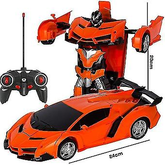 Toy cars 2 in 1 electric rc car transformation robots children boys toys outdoor remote control sports