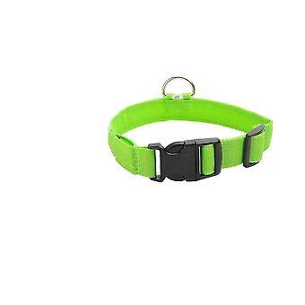 Waterbestendige usb oplaadbare veiligheid led huisdier kraag (M 40-48 cm) (groen)