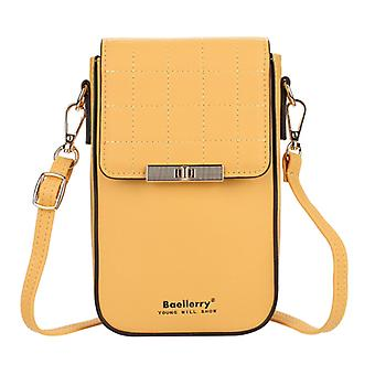 Women Pu Leather Credit Card Holder Small Cell Phone Crossbody Shoulder Bag Purse Wallet