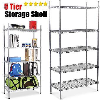 5 nivel resistente Metal acero almacenamiento estante cocina garaje estante estantería del alambre