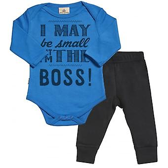 Spoilt Rotten May Be But The Boss Babygrow & Jersey Trousers Outfit Set