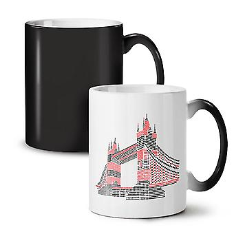 Tower Bridge UK London NEW Black Colour Changing Tea Coffee Ceramic Mug 11 oz | Wellcoda